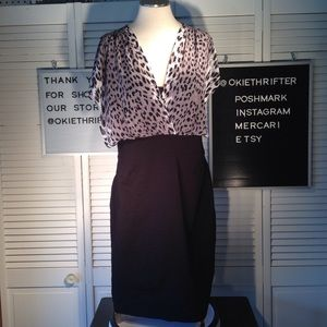 Black and white women's dress size 16